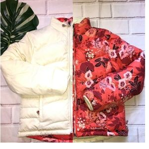 L.L. Bean Floral Reversible Puffer Jacket Small